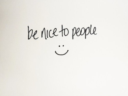 Be a Peanut butter and Be nice to People.